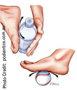 Plantar Fascia Stretching (photo credit: podiantics.com.au)