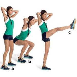 squat and kick