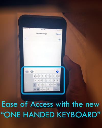 iOS 11 one-handed keyboard